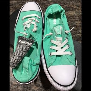 NWT Women's Size 9 mint green Converse shoes